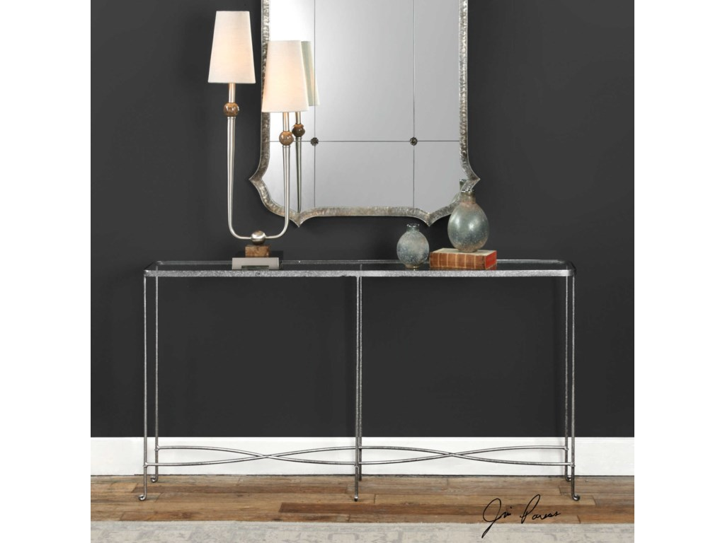 Uttermost Accent Furniture - Occasional TablesAubrey Silver Console Table