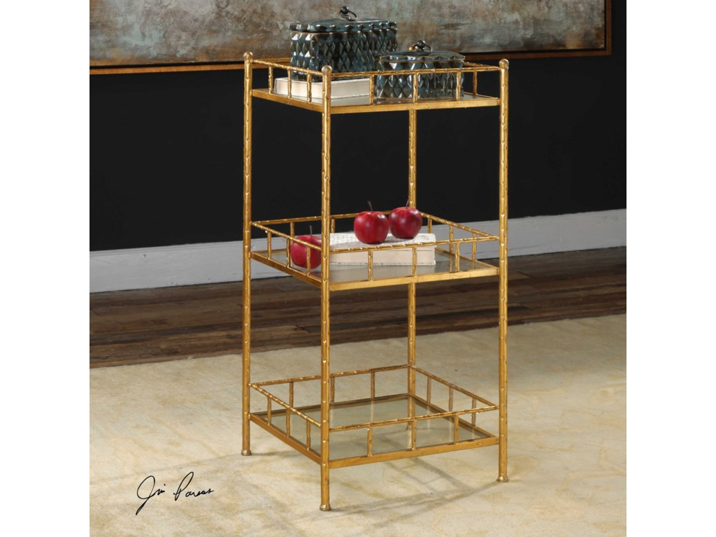 Uttermost Accent Furniture - ChestsTilly Gold Accent Shelf Table
