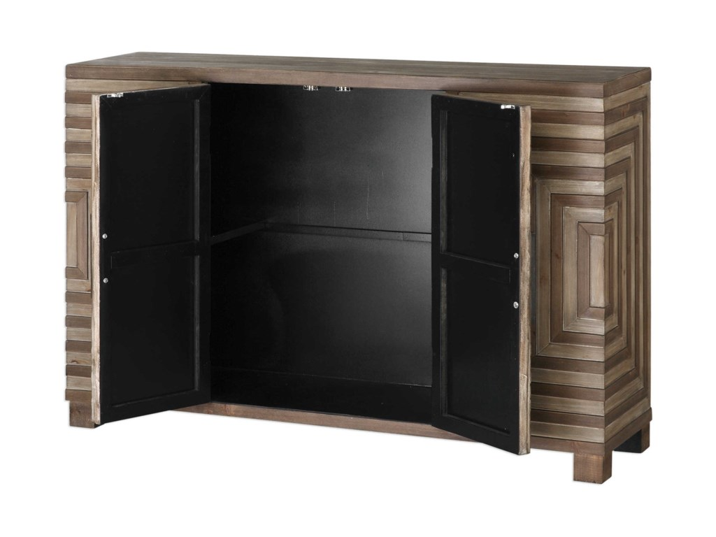 Uttermost Accent Furniture - Occasional TablesLayton Geometric Console Cabinet