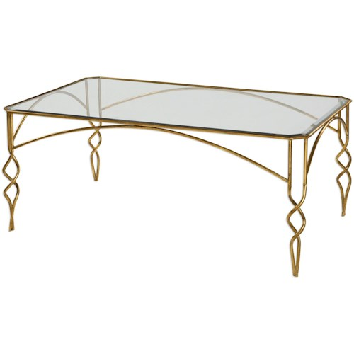 Uttermost Accent Furniture Lora Gold Coffee Table