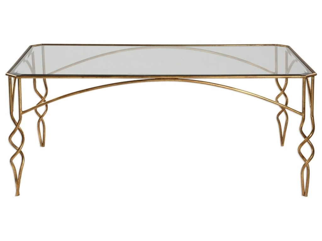 Uttermost Accent FurnitureLora Gold Coffee Table