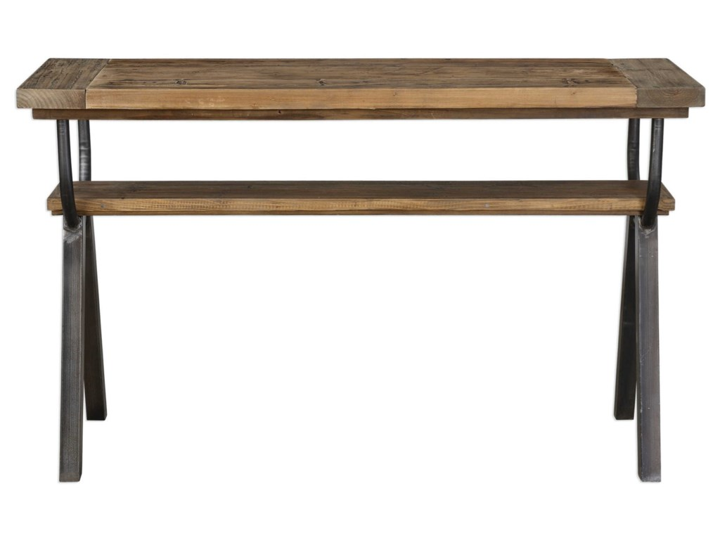 Uttermost accent furnituredomini industrial console table
