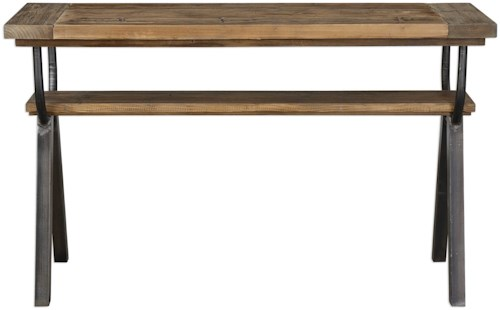 Uttermost Accent Furniture Domini Industrial Console Table