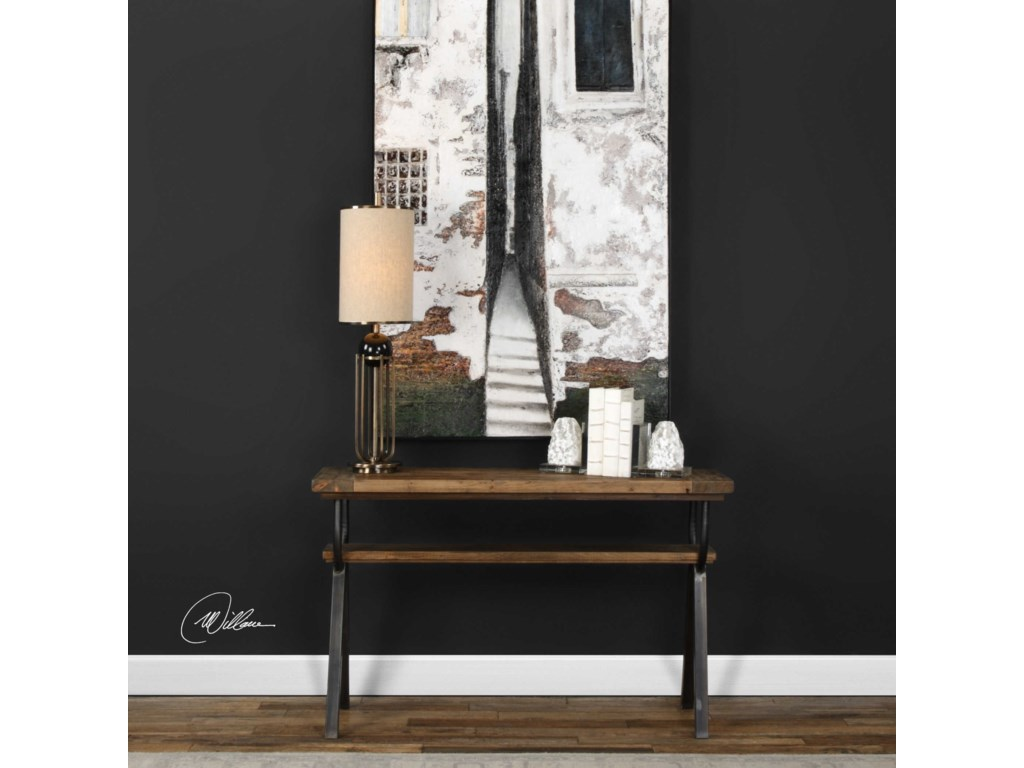 Uttermost Accent Furniture - Occasional TablesDomini Industrial Console Table