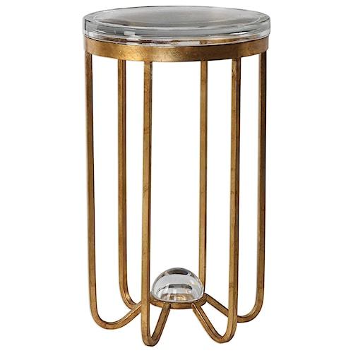Uttermost Accent Furniture Allura Gold Accent Table