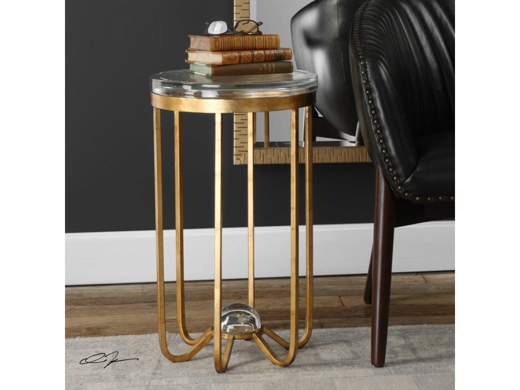 Uttermost Accent Furniture - Occasional TablesAllura Gold Accent Table