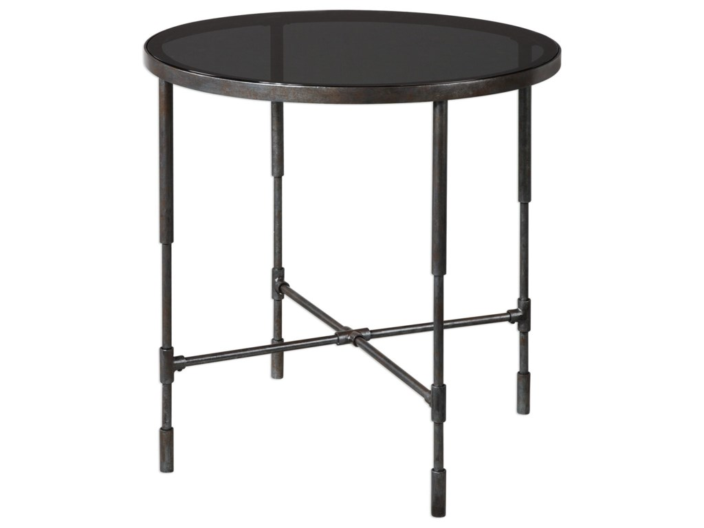 Uttermost Accent Furniture - Occasional TablesVande Aged Steel Accent Table