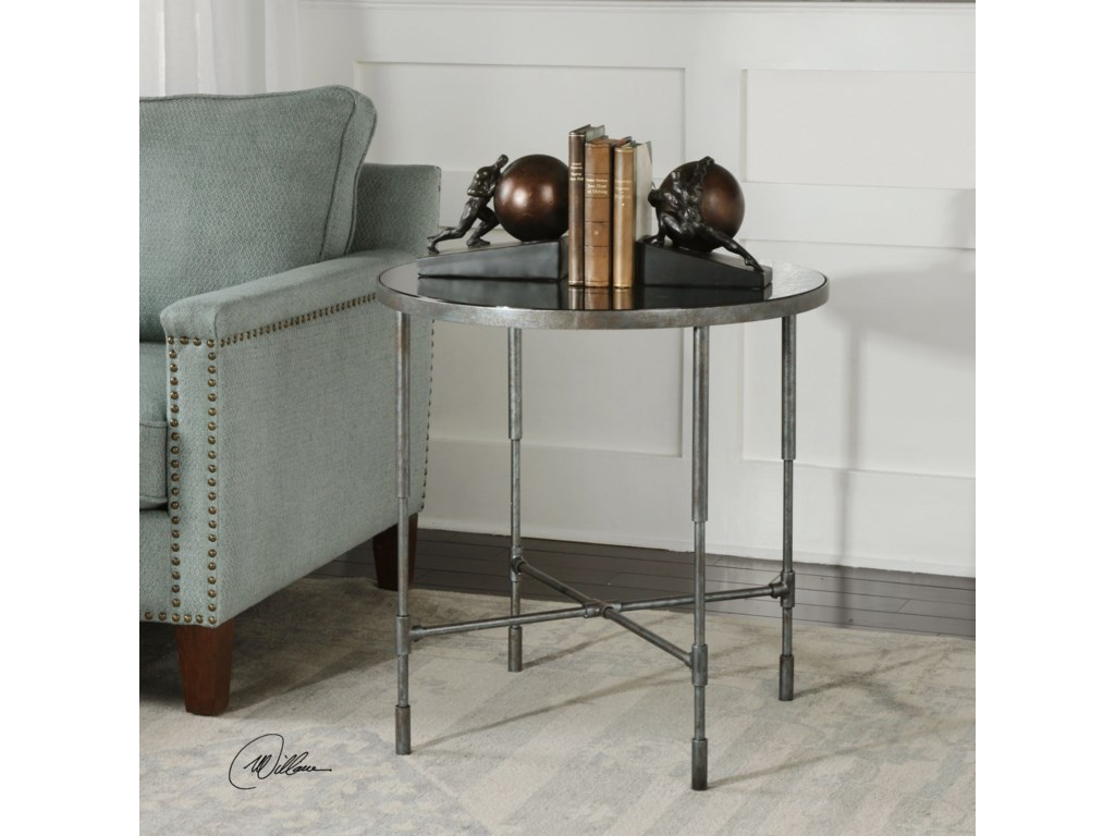 Uttermost Accent FurnitureVande Aged Steel Accent Table