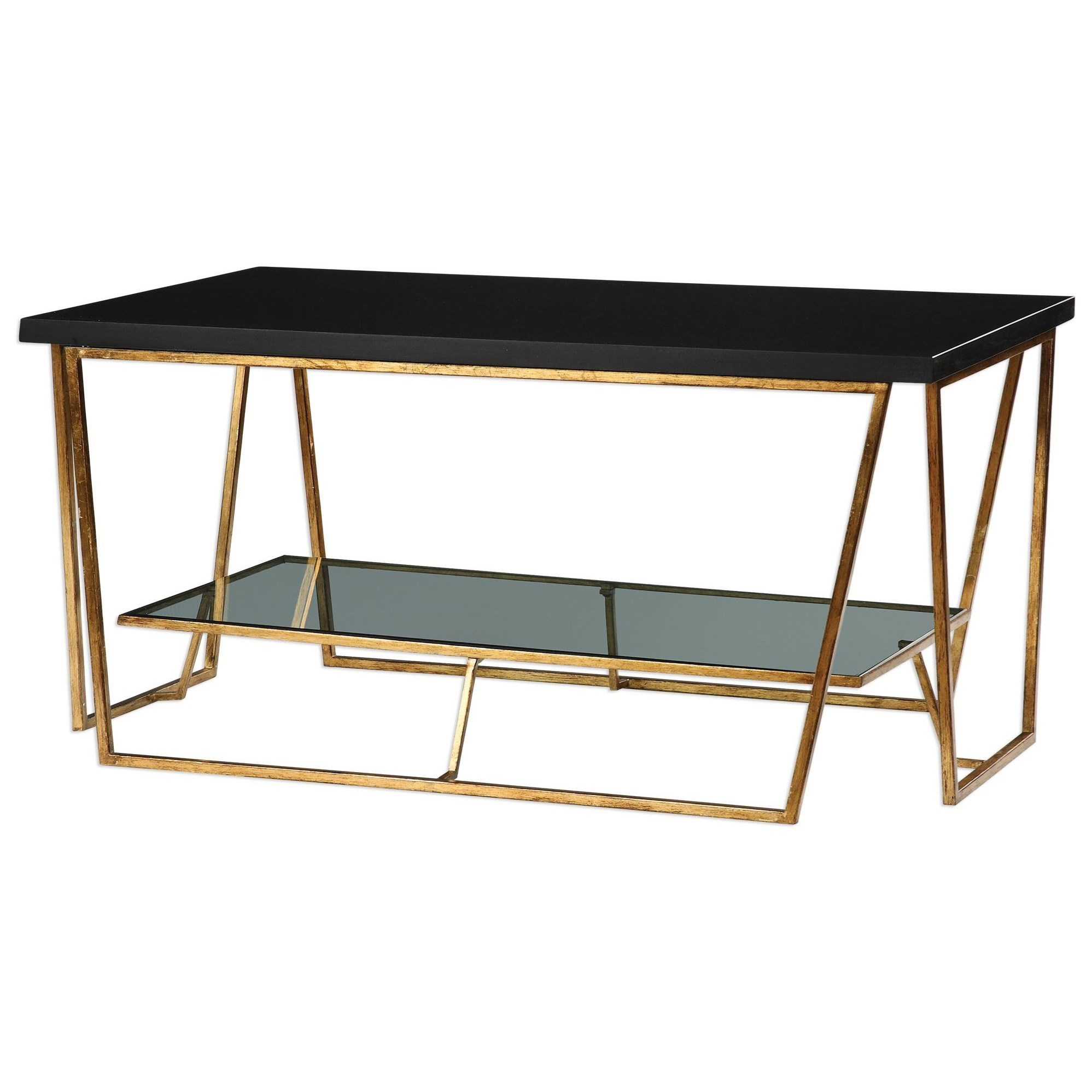 Uttermost Accent Furniture   Occasional TablesAgnes Black Granite Coffee  Table ...
