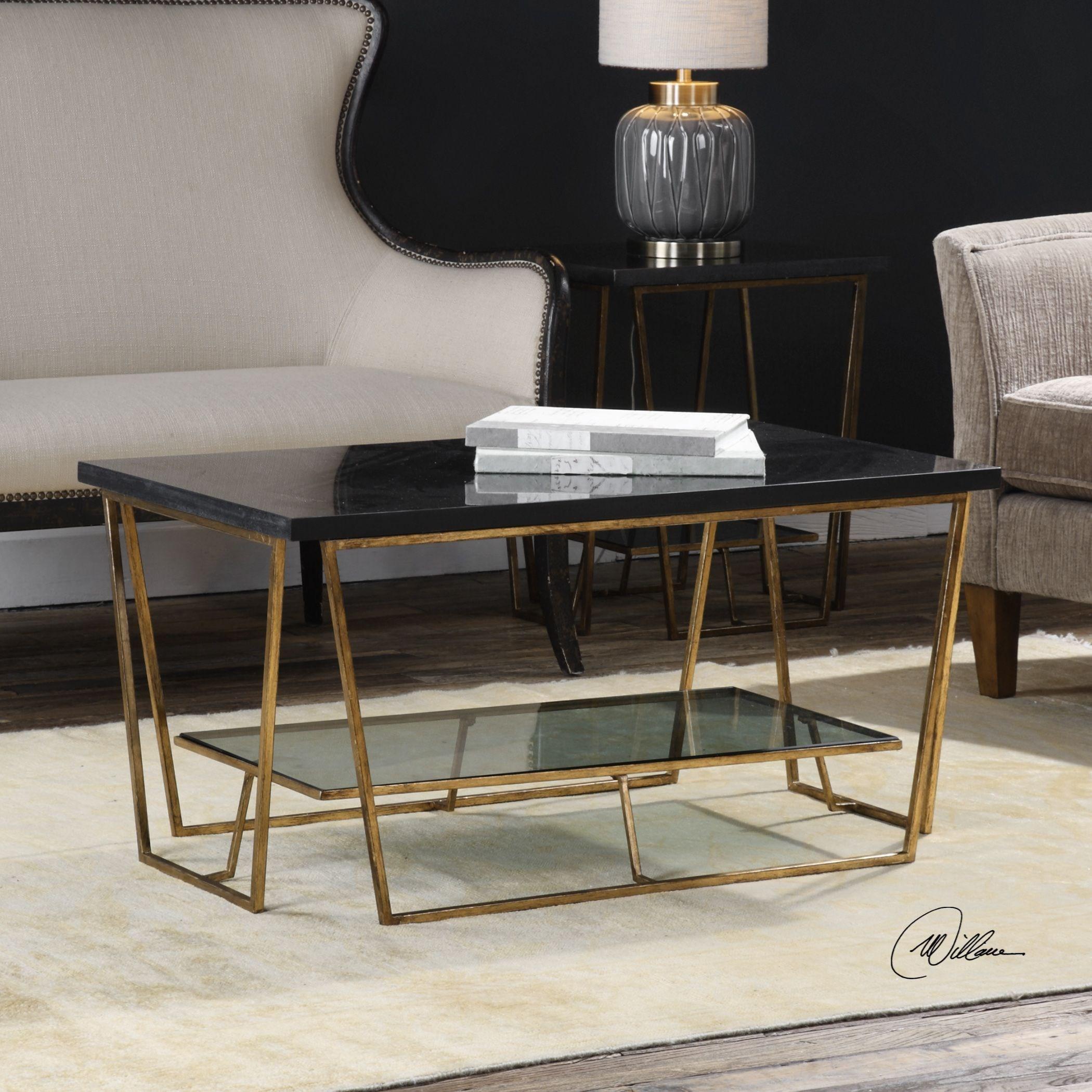 ... Uttermost Accent FurnitureAgnes Black Granite Coffee Table ...