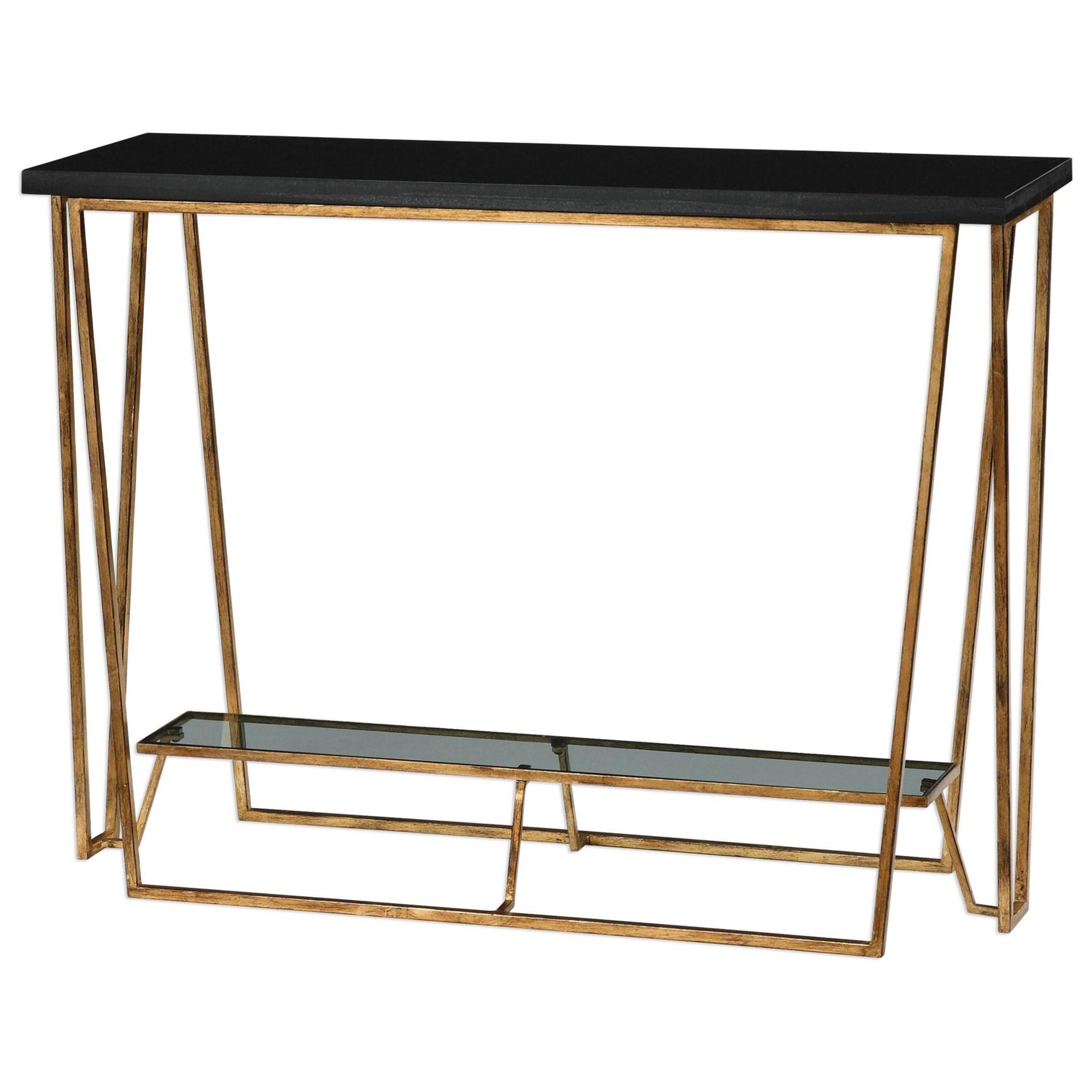 Marvelous Uttermost Accent FurnitureAgnes Black Granite Console Table ...
