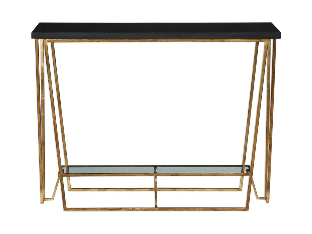 Uttermost Accent FurnitureAgnes Black Granite Console Table
