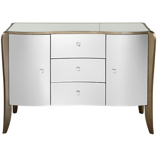 Uttermost Accent Furniture Kiley Mirrored Buffet
