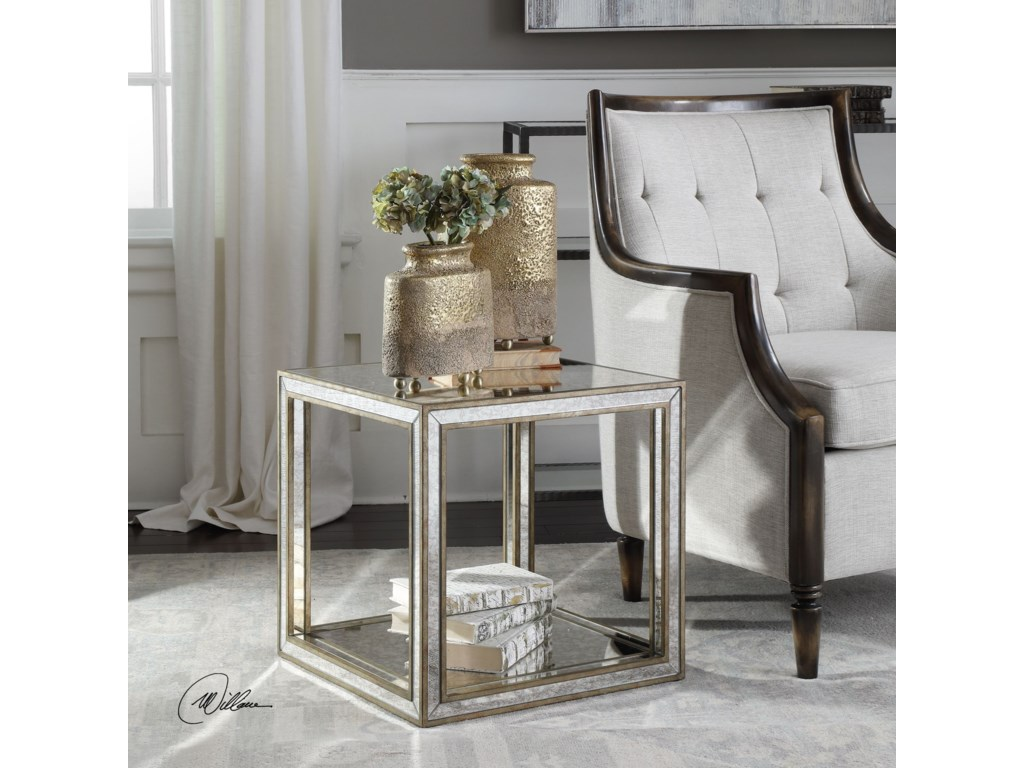 Uttermost Accent Furniture - Occasional TablesJulie Mirrored Accent Table