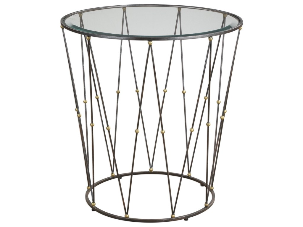 Uttermost Accent FurnitureHewett Round Caged Accent Table