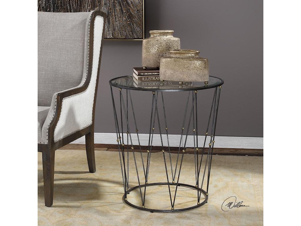 Uttermost Accent FurnitureHewett Round Caged Accent Table
