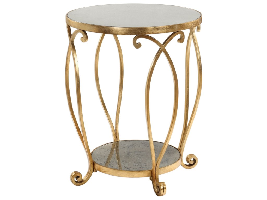 Uttermost Accent FurnitureMartella Round Gold Accent Table