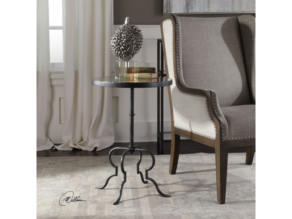 Uttermost Accent Furniture - Occasional TablesJanine Aged Black Accent Table