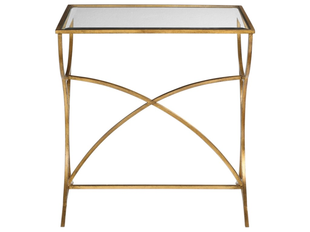 Uttermost Accent Furniture - Occasional TablesSarette Antiqued Gold Accent Table