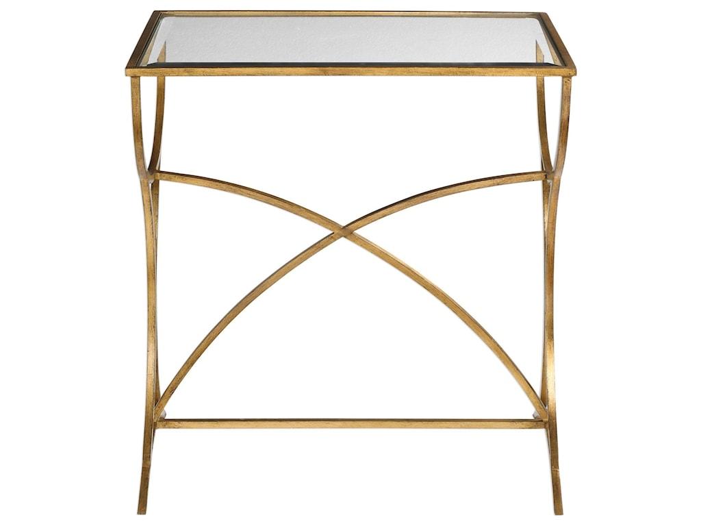 Uttermost Accent FurnitureSarette Antiqued Gold Accent Table