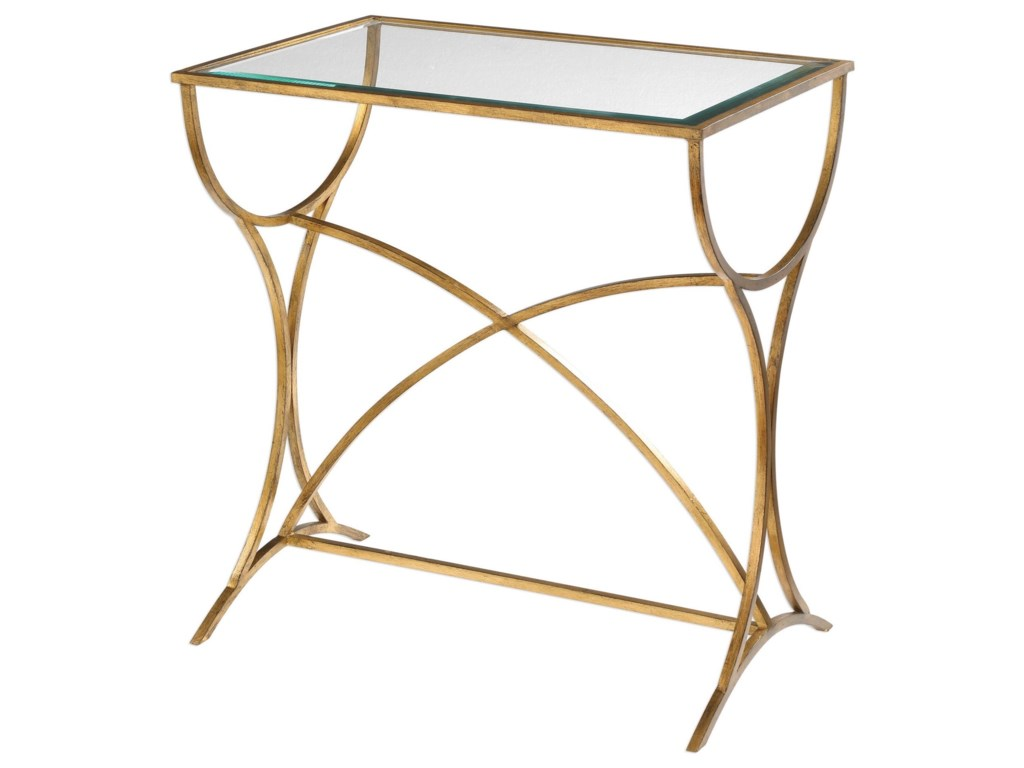 Uttermost Accent FurnitureSarette Antiqued Gold Accent Table