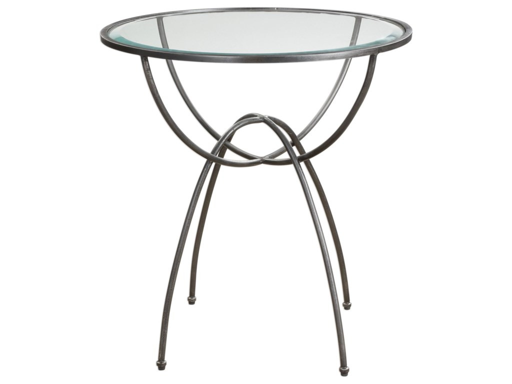 Uttermost Accent FurnitureRenault Aged Steel Lamp Table