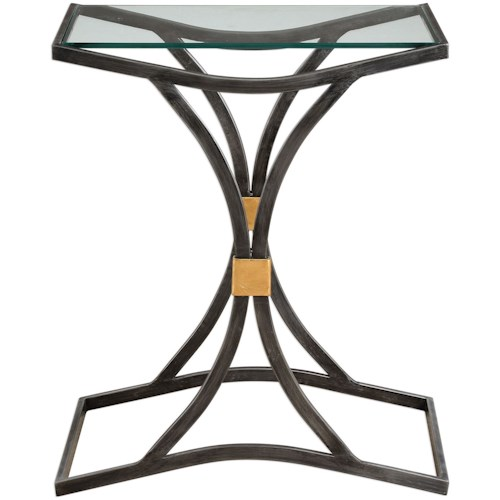 Uttermost Accent Furniture Verino Arched Iron Accent Table