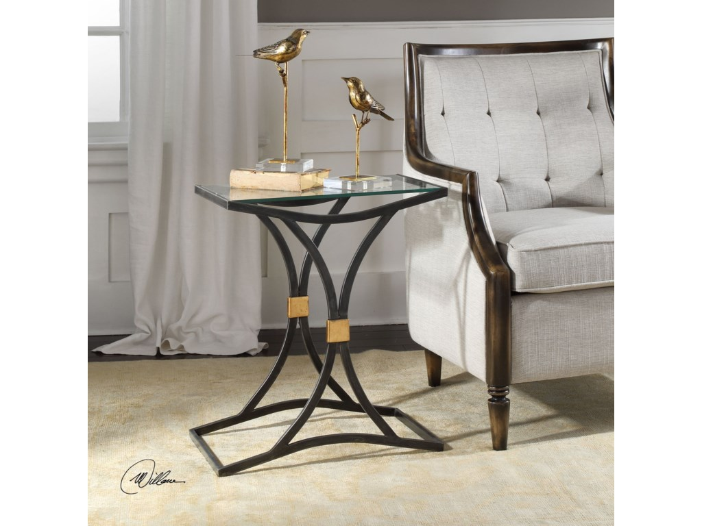 Uttermost Accent FurnitureVerino Arched Iron Accent Table