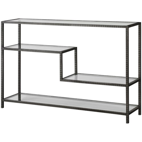 Uttermost Accent Furniture Leo Industrial Console Table