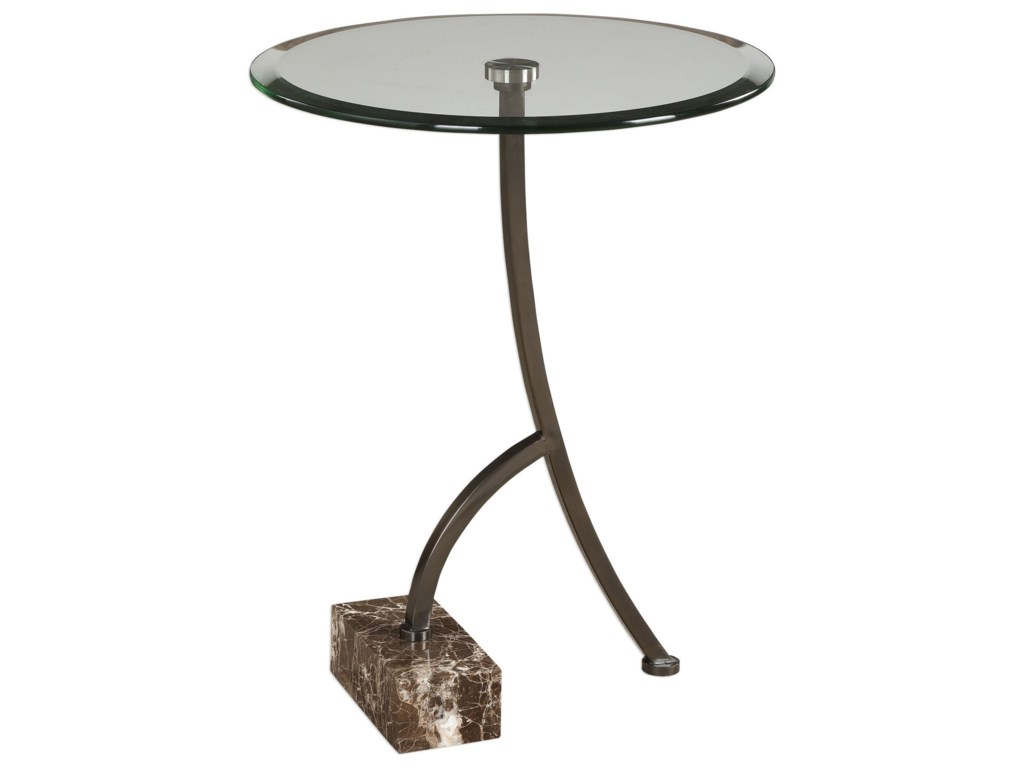 Uttermost Accent Furniture - Occasional TablesLevi Round Bronze Accent Table