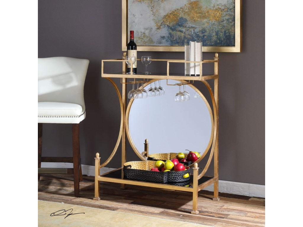 Uttermost Accent Furniture - Occasional TablesPresley Gold Bar Console