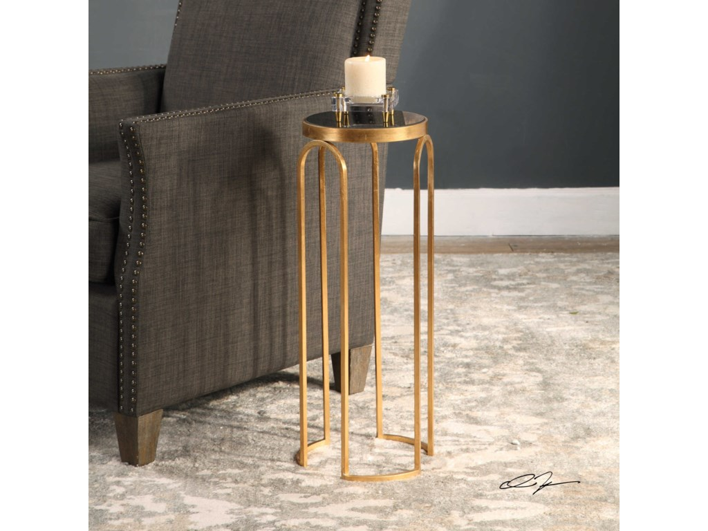 Uttermost Accent Furniture - Occasional TablesNovalie Gold Accent Table