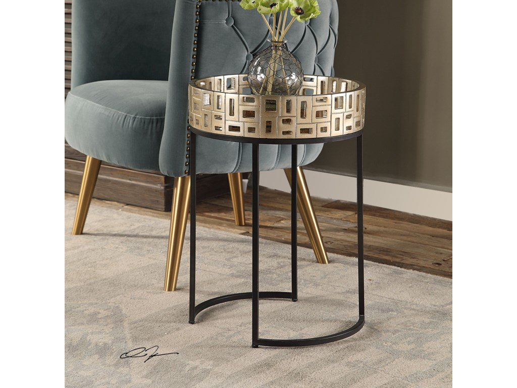 Uttermost Accent FurnitureAven Gold Accent Table