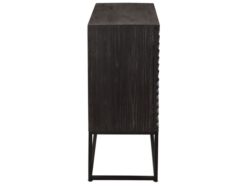 Uttermost Accent Furniture - ChestsUttermost Zadie Ebony Accent Cabinet