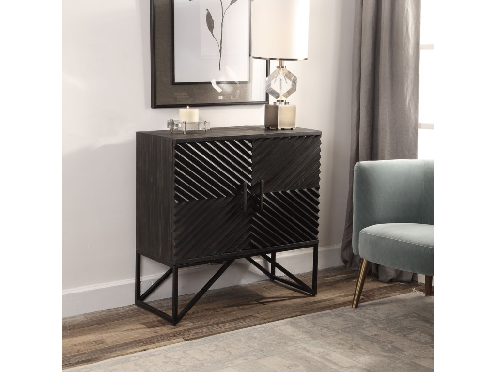 Uttermost Accent FurnitureUttermost Zadie Ebony Accent Cabinet