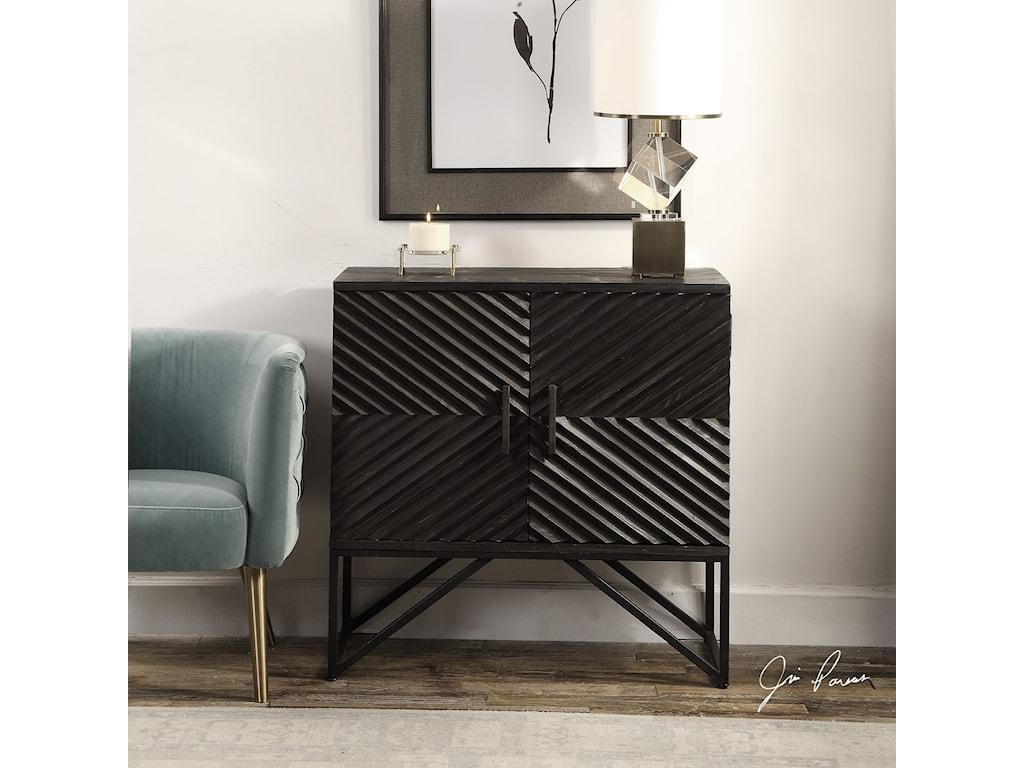 Uttermost Accent FurnitureUttermost Zadie Ebony Accent Cabinet