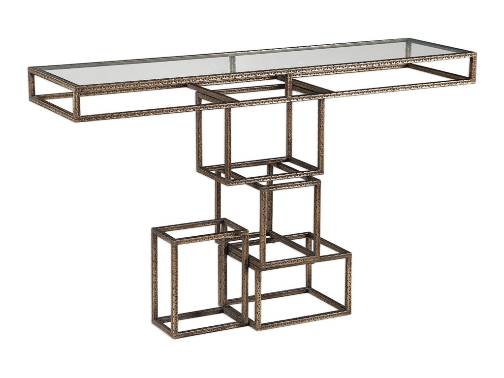 Uttermost Accent Furniture - Occasional TablesRuslan Bronze Console Table