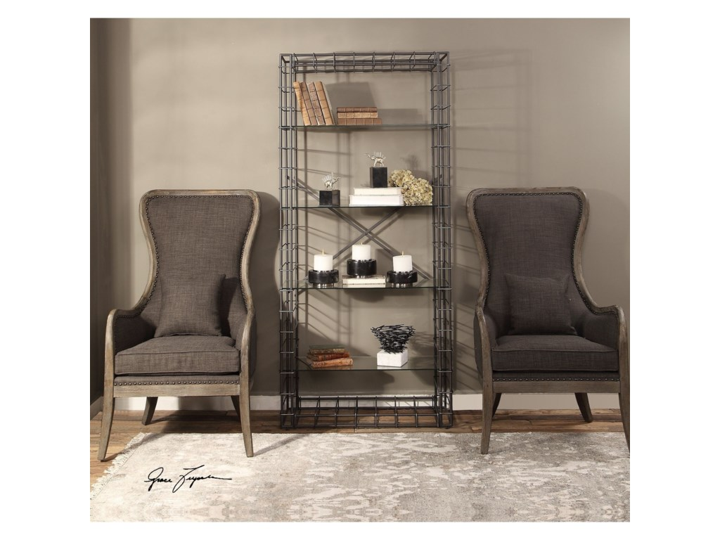 Uttermost Accent FurnitureLeonel Industrial Etagere