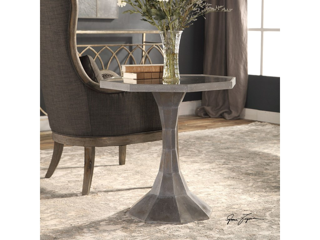 Uttermost Accent Furniture - Occasional TablesAharon Octagonal Lamp Table