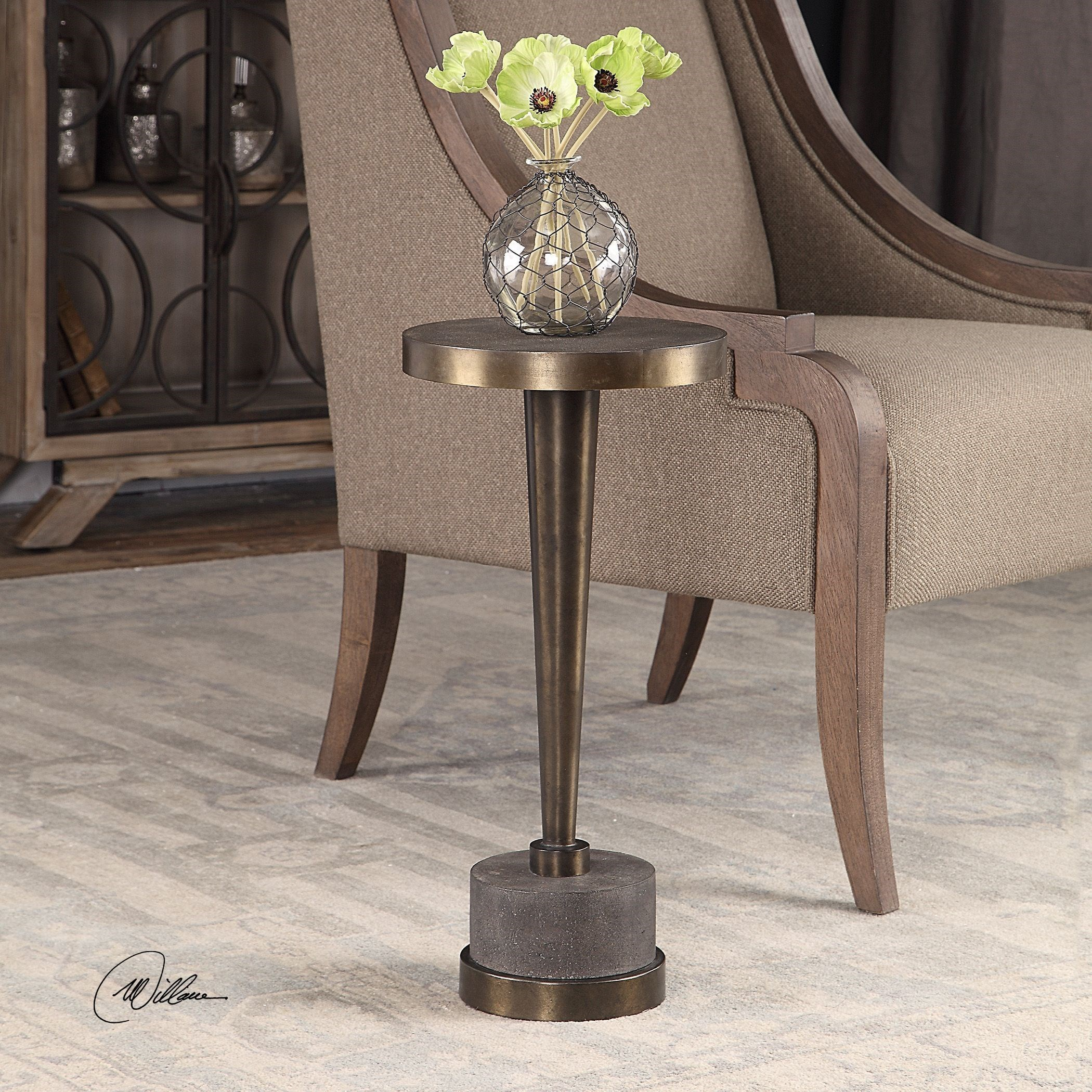- Accent Furniture - Occasional Tables Masika Bronze Accent Table