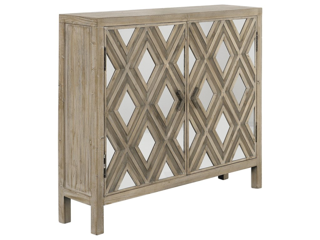 Uttermost Accent Furniture Chests 24866 Tahira Mirrored Accent