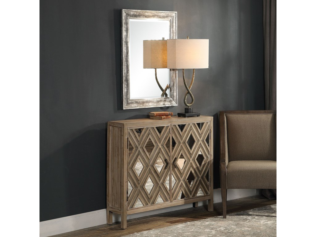 Uttermost Accent Furniture - ChestsTahira Mirrored Accent Cabinet