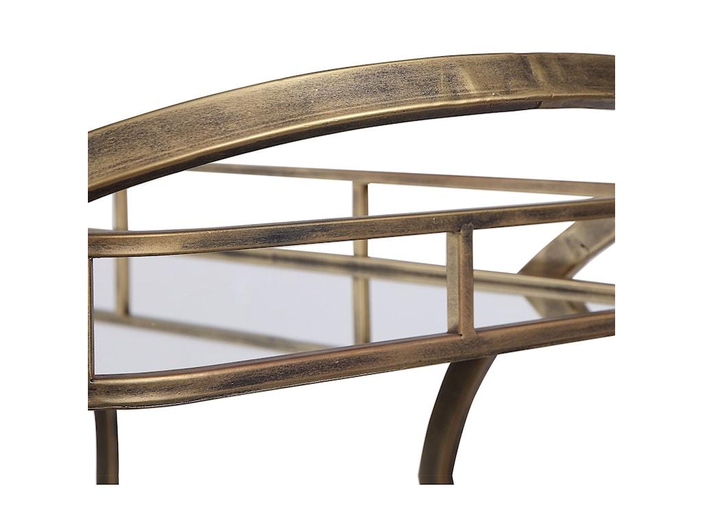 Uttermost Accent FurnitureStassi Gold Serving Cart