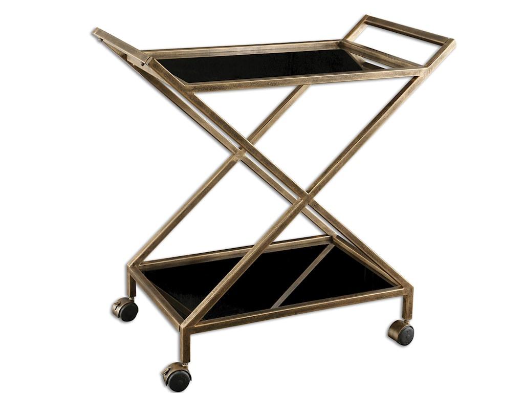 Uttermost Accent FurnitureZafina Gold Bar Cart