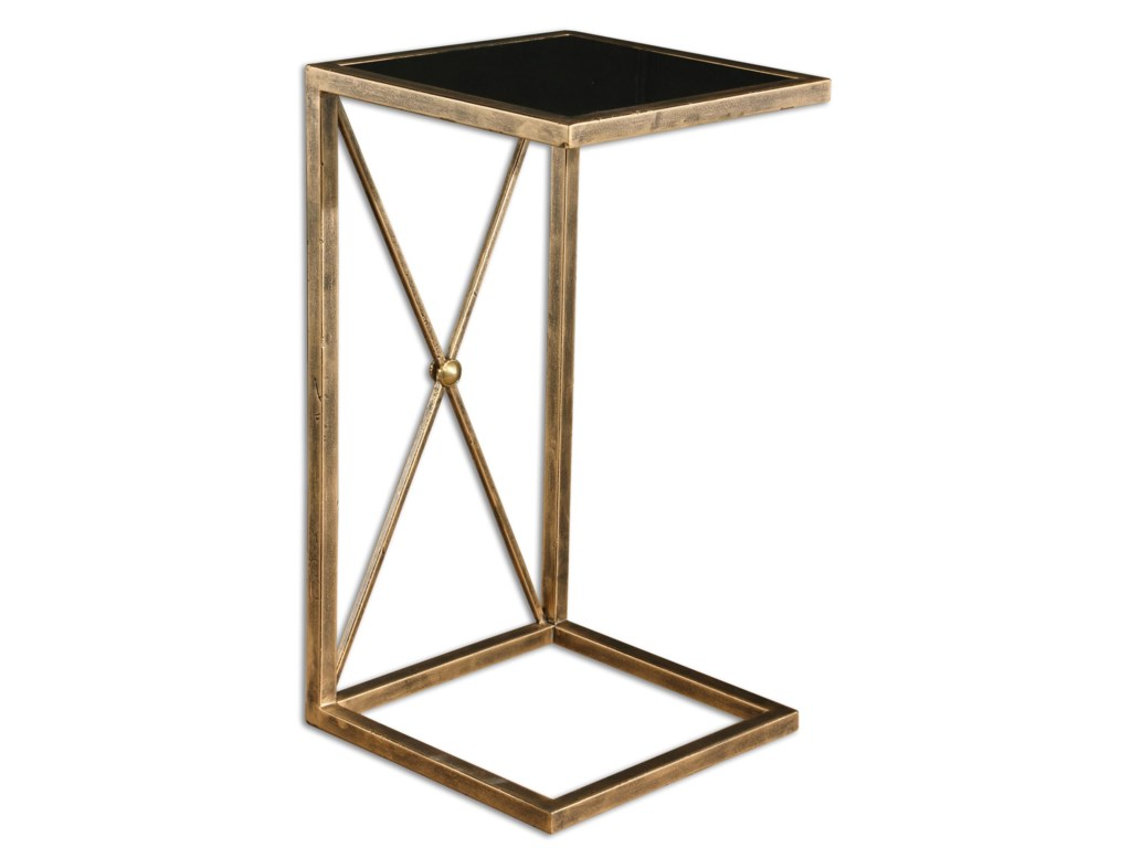 Uttermost Accent Furniture Occasional Tables Zafina Gold Side