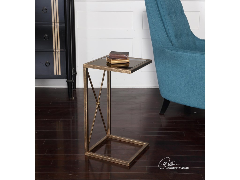 Uttermost Accent FurnitureZafina Gold Side Table