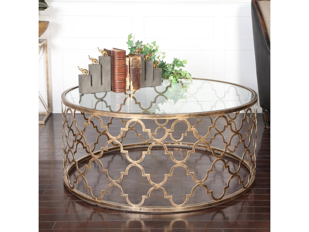 Uttermost Accent FurnitureQuatrefoil Coffee Table