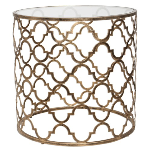 Uttermost Accent Furniture Quatrefoil End Table