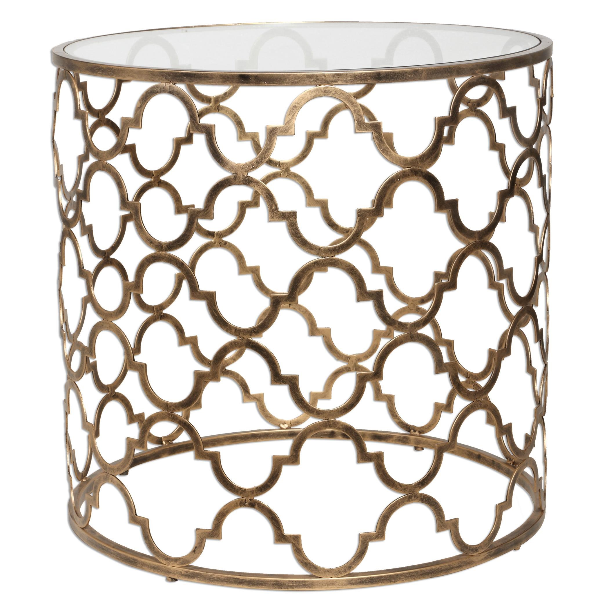 Uttermost Accent Furniture   Occasional TablesQuatrefoil End Table ...