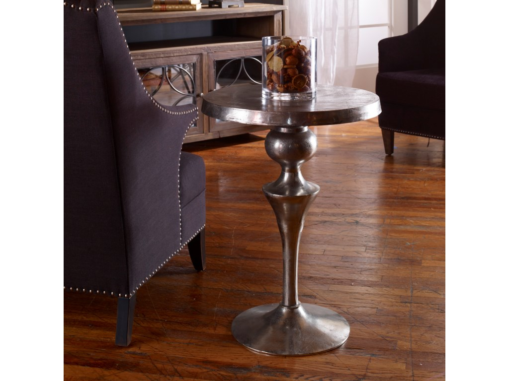 Uttermost Accent Furniture - Occasional TablesNoland Aluminum Accent Table